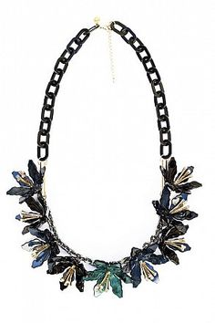 Statement Necklace Lilian blue-green by LUAKetten Statementketten Necklace Trend 2014 Halsschmuck Bijouterie