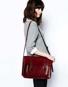 Cambridge Satchel Company, Leather Satchel, Oxblood, style, fashion, handbag, bag, hair, fringe