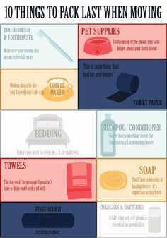10 Things to Pack Last