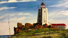 "A beautiful oil painting of the Cape Colombine lighthouse. This lighthouse is situated about 5 km from the picturesque fishing village of Paternoster (""Our Father"") on the West Coast of South Africa. It is one of the oldest fishing villages on the West Coast."