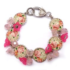 Tutorials | Pink Floral Picture Bracelet | Handmade Fashion Jewellery – Devoted to DIY Jewellery
