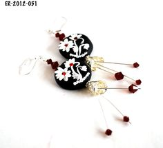 Earrings for Women, Dangle Earrings, Handmade Earrings, Flower Earrings, Designer Earrings