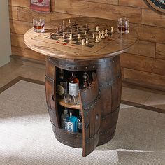 Whiskey Barrel Game Table - Wine Enthusiast