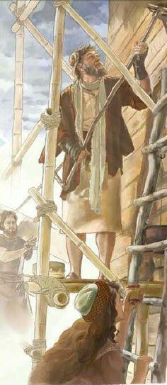 Noah building the ark
