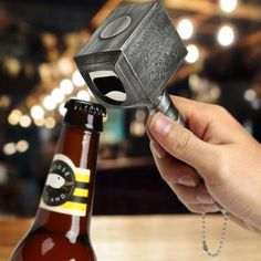 This manly bottle opener is crafted of stainless steel and feels powerful in your hand as you pop open one ice-cold brew after another for your fellow beer gods! The Hammer Bottle Opener would make the perfect gift for any man in your life! Piping Icing, Piping Tips, Christmas Trees For Kids, Christmas Design, Christmas Decor, Sticky Pads, Beer Opener, Thors Hammer, Household Items