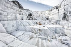 For Sale on - Marmo di Carrara - large format photograph of iconic Italian marble quarry, Archival Paper, Photographic Paper, Archival Pigment Print by Frank Schott. Offered by Edition EKTAlux. Color Photography, Landscape Photography, Jeff Wall, Michael Wolf, Stone Quarry, William Eggleston, Carrara Marble, Italian Art, Contemporary Landscape