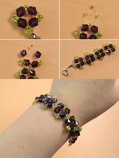 grape beads bracelet, wanna it? LC.Pandahall.com will share us the tutorial soon. #pandahall