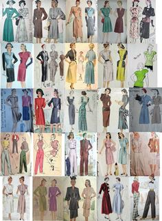 images of 1940 clothing | 1940's Fashion Designs for Sewing Patterns