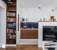 Mieszkanie 1 - Kuchnia, styl nowoczesny - zdjęcie od KRAMKOWSKA |  PRACOWNIA WNĘTRZ  scandinavian design | minimalism | white kitchen | blue | modern