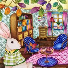 Amily's colorful Wonderland Faber Castell Polychromos #coloringbookforadult…