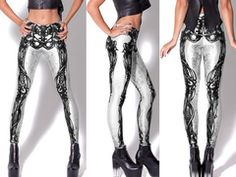 Online Legging Store | Skeleton Print Leggings