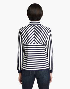 Bedford Stripe Allison Jacket - Jackets - Women - Clothing   Lafayette 148 New York