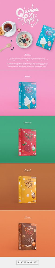 Pereg Quinoa Pops cereal by Cheungyoon Kim. Pin curated by #SFields99 #packaging #design