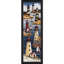 "Janlynn ""Lighthouses""...totally matches our bathroom decor"