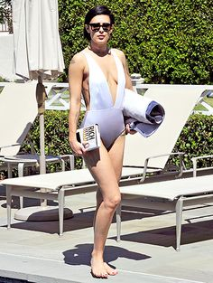 """Rumer Willis squeezed in some relaxation in between her jam-packed Dancing With the Stars schedule on Monday, April 20, in Los Angeles. Ditching her workout pants and bedazzled performance outfits, the daughter of actors Bruce Willis and Demi Moore slipped into the Fella """"Mikey"""" swimsuit ($200, Revolveclothing.com) for the occasion."""