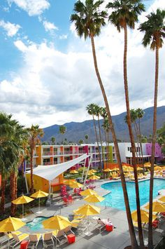 Scene of the Soiree The Californians headed to The Saguaro, a bright, colorful, and kid-friendly destination in Palm Springs.
