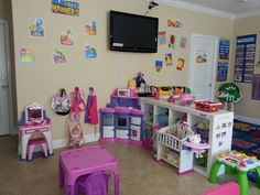Our pretend play area is design to provide hours of fun.