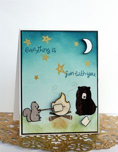 Lawn Fawn - Love You S'more _ Everything Is Fun with You  adorable card by Lisa via Flickr - Photo Sharing!