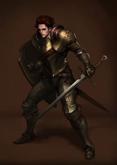 m Fighter Plate Armor Shield Sword Traveler underdark undercity urban City lg Dark Fantasy, Fantasy Male, Fantasy Armor, Medieval Fantasy, Medieval Dragon, Dragon Knight, Knight Armor, Dragon Age, Dnd Characters