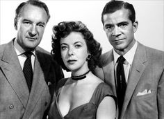 WHILE THE CITY SLEEPS (1956) starring George Sanders, Ida Lupino, Dana Andrews, Ronda Fleming, and Vincent Price