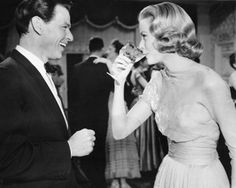 This is the cutest photo. Grace Kelly and Frank Sinatra in High Society