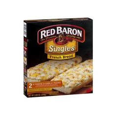 Red Baron Singles French Bread 5 Cheese Garlic Pizzas 2 CT ($46) ❤ liked on Polyvore featuring home and kitchen & dining