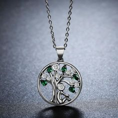 Silver Necklace - Person Sitting Under The Tree in Deep Thinking