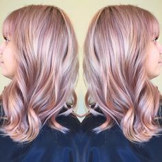 Dusty Rose gold muted mauve pastel color