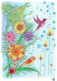 Morning+Birdie by+EnchantedCrayons