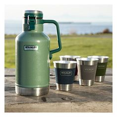 Today's beer aficionado knows that a growler is the best way to carry your brew. This airtight, vacuum-insulated stainless steel jug from Stanley® will keep 64 ounces of your favorite beer cold up to 24 hours.