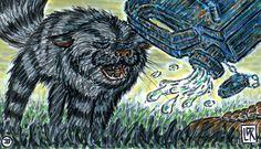 Illustration for 'Feline Fireball' by Lars de Ruyter