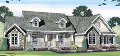 Bungalow   Cape Cod   Country   Farmhouse  House Plan 44061. Love the front of this house