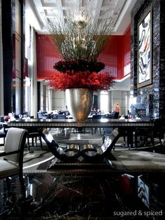 The Peninsula Restaurant in Shanghai. Wow.