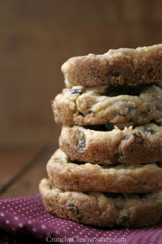 Loaded Chocolate Chip Cookie Cups | CrunchyCreamySweet.com