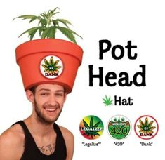 Costume Hats for Men - Funny Halloween Legalize Marijuana Pot Head Hat Combo with Fake Plant Easy Adult Halloween Costumes, Themed Halloween Costumes, Trendy Halloween, Halloween Hats, Adult Costumes, Simple Costumes, Halloween Ideas, Funny Mens Halloween Costumes, Family Halloween