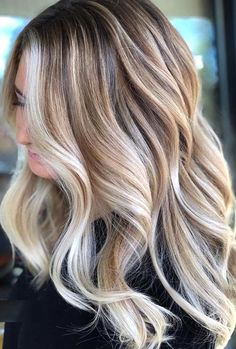 38 Amazing Blonde Hair Color Ideas for 2019 – Haircolor – Balayage Haare Blonde Hair With Highlights, Balayage Hair Blonde, Blonde Color, Ombre Hair, Honey Balayage, Blonde Curls, Balayage Color, Brunette Color, Brown Balayage