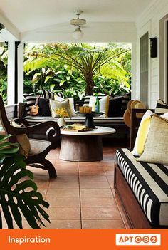 Black and white stripes look so good paired with plants, yes?! So chic! #APTCB2 #inspiration