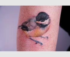 Cute bird tattoo.