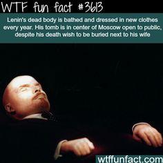 Lenin's dead body in Moscow - WTF fun facts