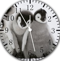 "New Cute Penguin baby wall Clock 10"" nice Gift and Room wall Decor E149 #IKEA"