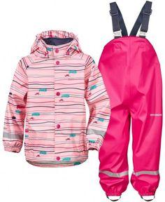 Didriksons Slaskeman Printed Waterproof Set - Pink Waterproof Rain Jacket, Outdoor Wear, Trousers, Hoodies, Prints, Sweaters, Kids, How To Wear, Jackets