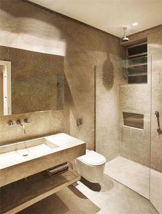 Informe publicitário: 11 banheiros com o toque rústico e elegante do cinza - Casa