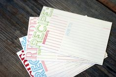 FREE super cute recipe cards download from The Sweetest Occassion. Download these and print on cardstock.