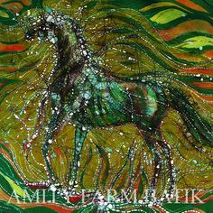 Horse Rises From the Earth  Very large original by amityfarmbatik
