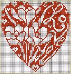 Love heart perler bead pattern