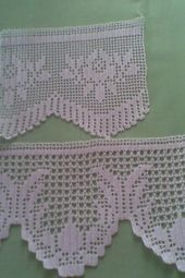 The edging in the photo says it is from a pattern found in Filet Crochet, Crochet Trim, Crochet Lace, Knit Vest Pattern, Crochet Edging Patterns, Crochet Borders, Border Tiles, Crochet Curtains, Crochet Flowers