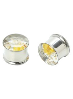 Steel Flowers Eyelet Saddle Plug 2 Pack | Hot Topic