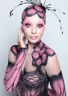 This is so pretty. STUDENT Makeup Competition for IMATS show in NYC.