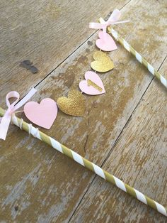 Cake Banner Pink Gold cake banner One Banner by MBHaccessories