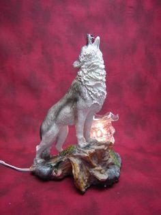 Electric Oil Wax Burner Warmer Diffuser. Great Gift Idea and Decor! http://mkt.com/pure-oils/m-wolf-howling #oils #waxtart #warmer #Wax #burner #homedecor #howling #wolf #lamp #Soywax #tart #giftideas